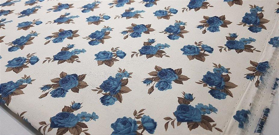 Floral em Algodão+Linho Nacional. TN113-50x140cm