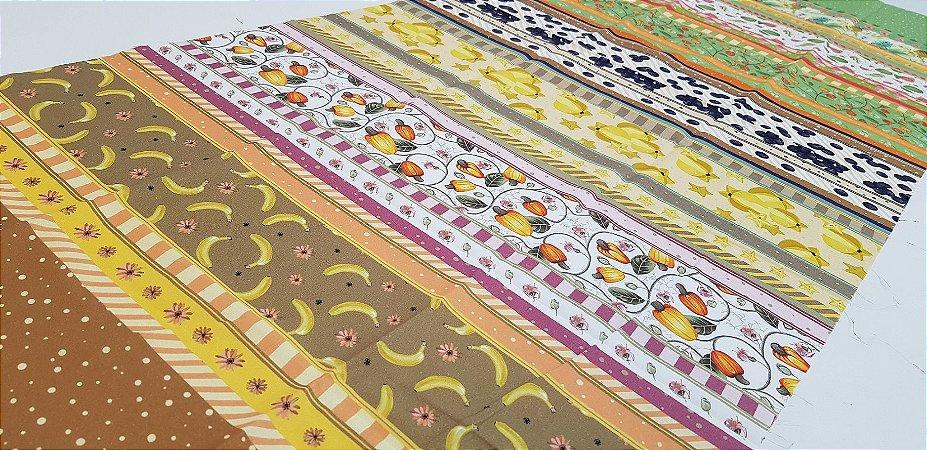Frutas. Faixa (Barrado) Digital - 50x140cm