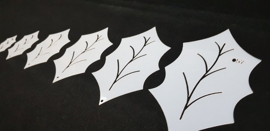 Molde Folha de Natal para PatchApliqué (57)