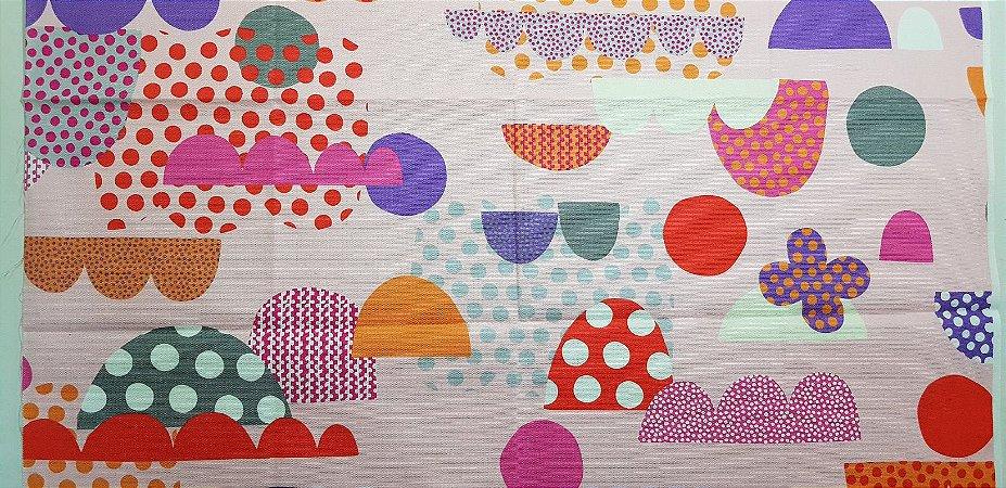 Colorful Balls. Linho+Algodão Japonês -50x55cm