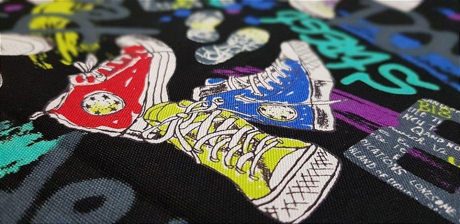 Tennis Shoes. Linho+Algodão Japonês -50x55cm