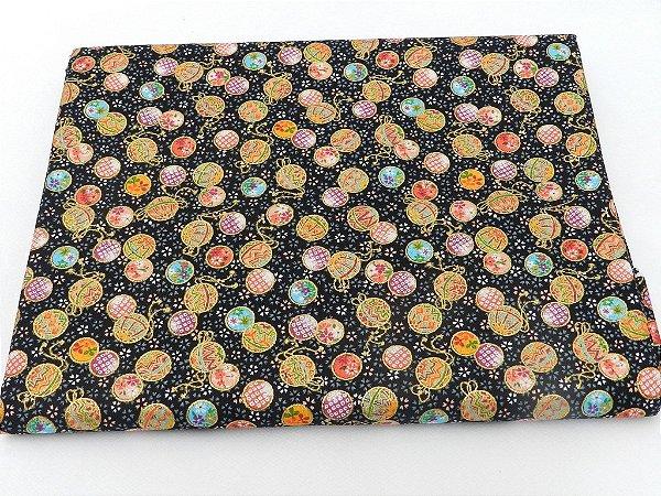 Little Balls. Tecido 100% Algodão  em Fat Quarter (50cm x 55cm)