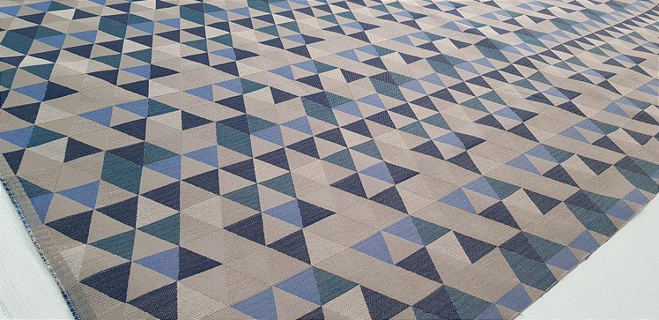Triângulos. Tec. Algodão Estruturado. NV00020 (50x140cm)