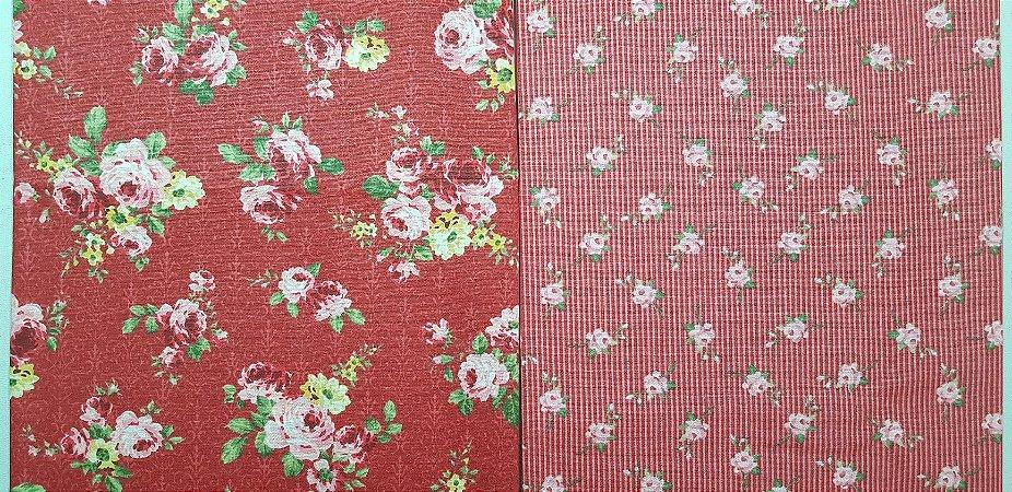 Floral Verm. Composê. 2x (50X70cm)