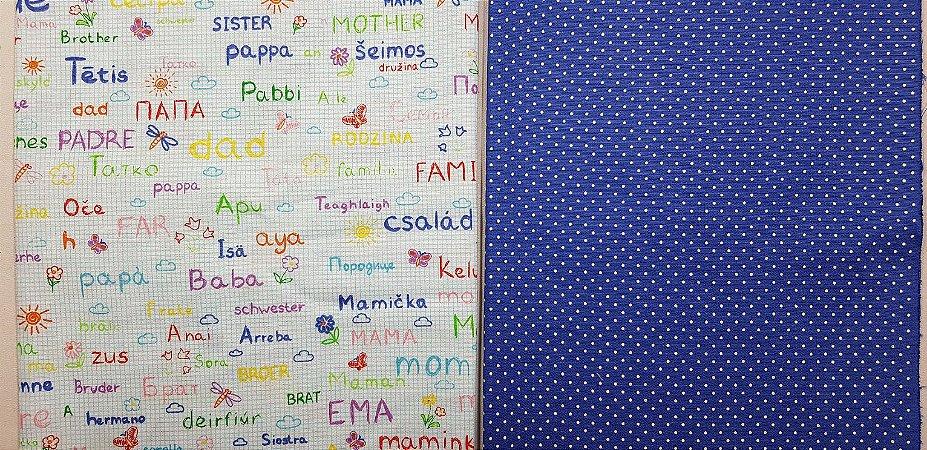 Família Azul. Composê. 2x (50X70cm)