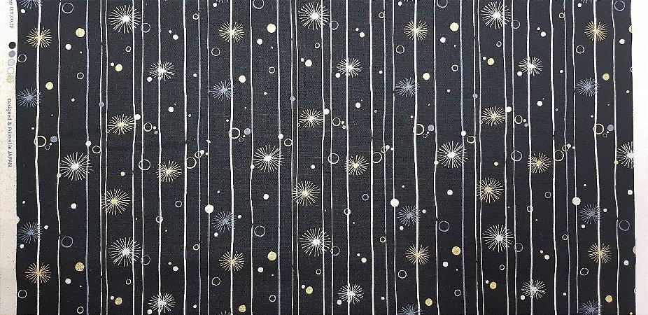 Golden Stars. Linho+Alg Japonês. JV0017 (50x55cm)