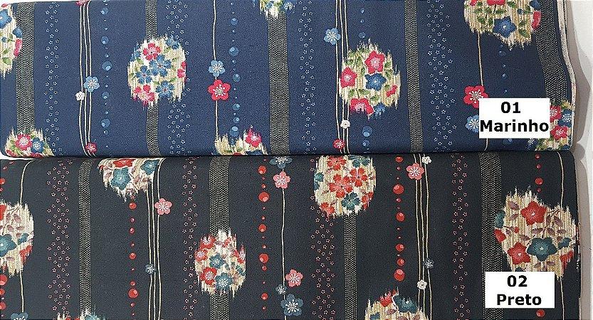 Sakura Gothic. Algodão Japonês. JV0018 (50x55cm)