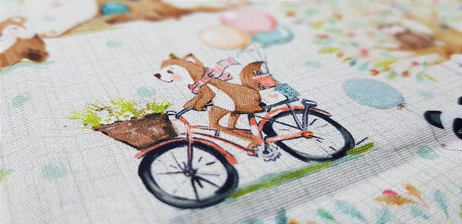 Raposinha de Bike. Tec.Digital -50x70cm