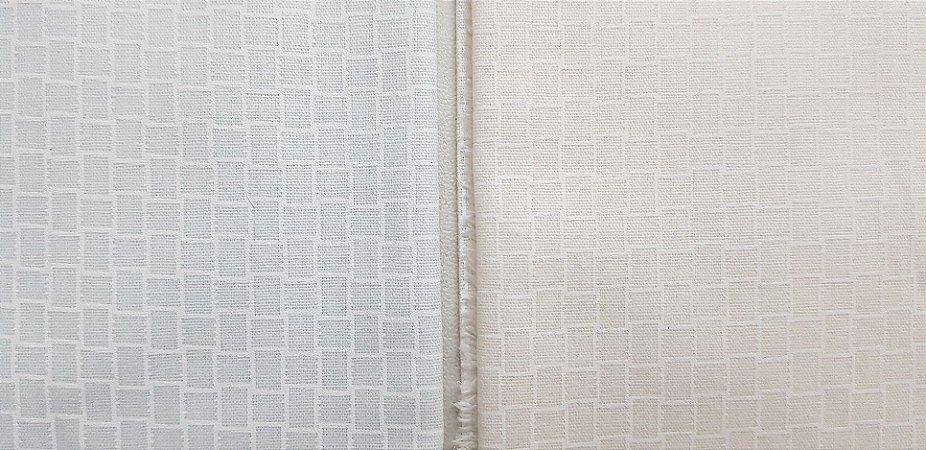 Tecido Branco Quadriculado Suave. NN0010-50x140cm