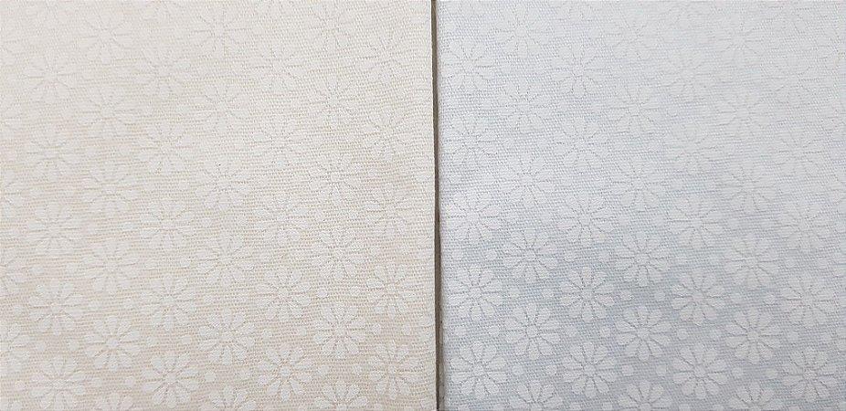 Tecido Branco Flor Suave. NN0011-50x140cm