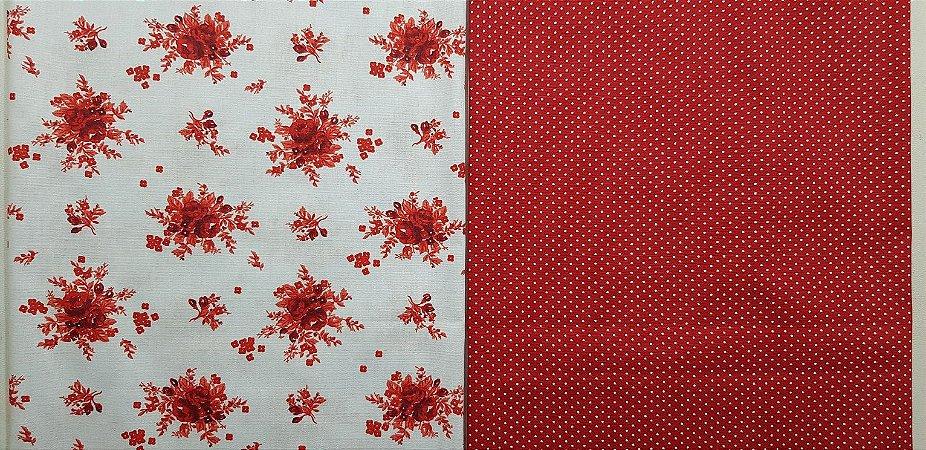 NF0018-Composê Floral. 2x(50x70cm)