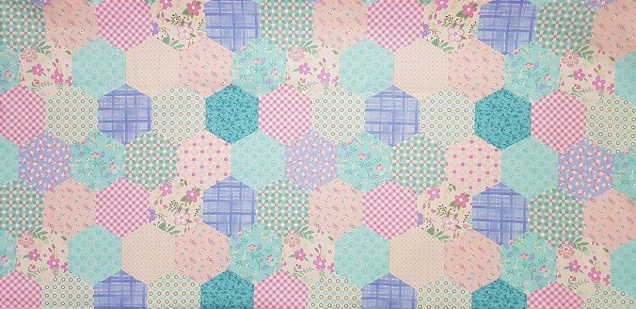 Tec. Floral Digital. Mosaico Az/Rs/Rx. NF0022 (50x70cm)