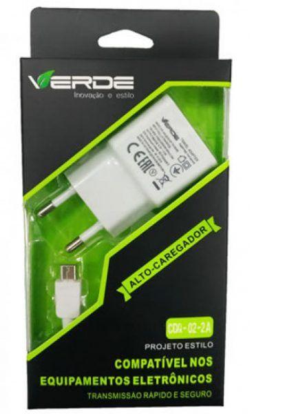 Carregador V8 1A - Verde