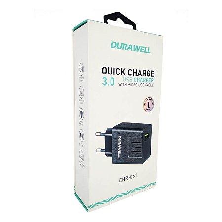 Carregador V8 Turbo QC 3.0 - Durawell