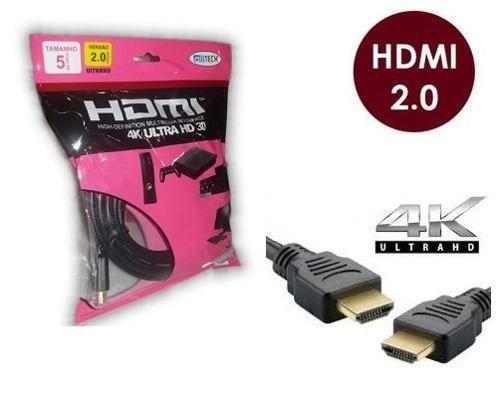CABO HDMI 5M 2.0 19 PINOS 4K
