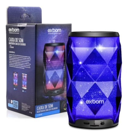 Caixa de Som Bluetooth com LED - Exbom