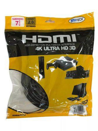 Cabo HDMI 7 Metros 4K V2.0
