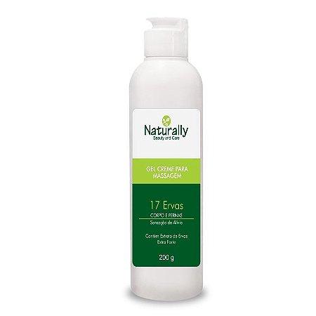 Naturally Gel Cr p/ Massagem Corpo/Pernas 17 Ervas 200grs