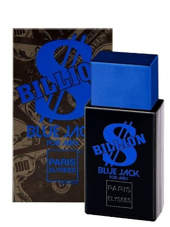 Perfume Billion  BLUE JACK For Men Paris Elysees 100ml