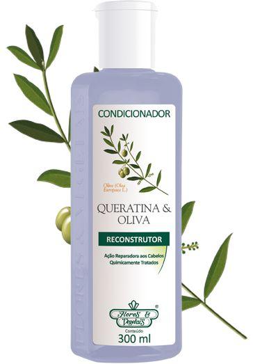 Condicionador Flores e Vegetais 300ml QUERATINA E OLIVA