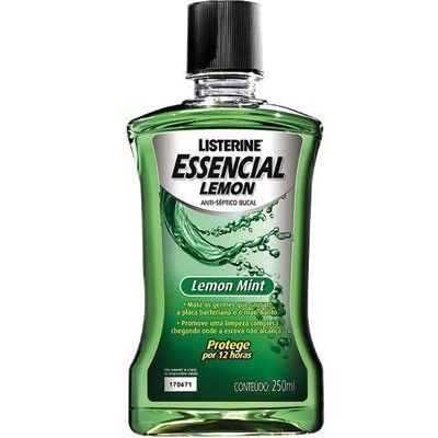 Listerine Essecial 250ml Lemon Mint