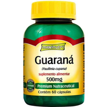 GUARANA 500MG C/60CPS MAXINUTRI