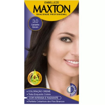 Tintura Maxton Kit 3.0 Castanho Escuro