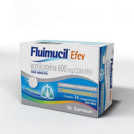 Acetilcisteina - FLUIMUCIL 600MG 16CPR EFERV