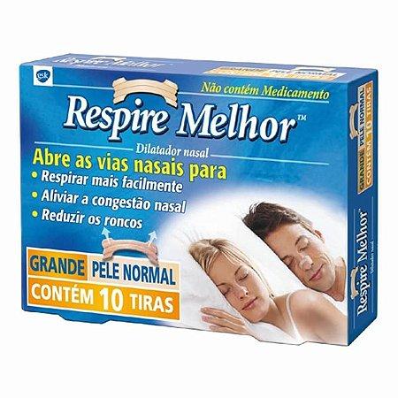 RESPIRE MELHOR GRANDE PELE NORMAL CX 10 TIRAS