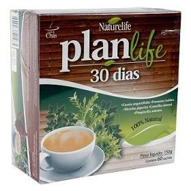 Chá PlanLife 30 dias 60 saches 120gr  - Naturelife