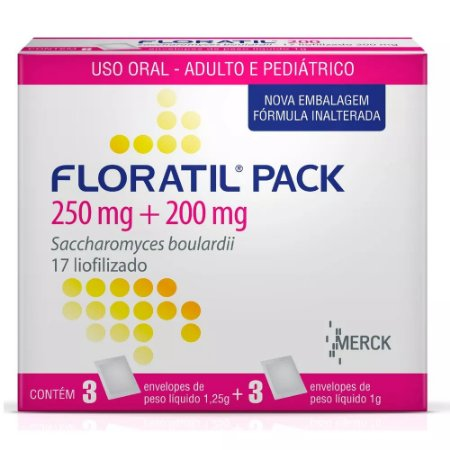 FLORATIL PACK 200+250MG com 6 sachês - Merck