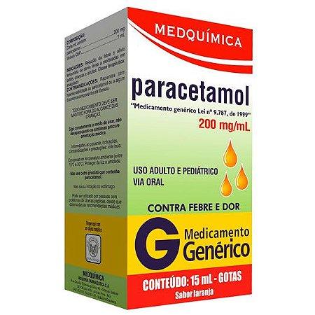 PARACETAMOL GTS 15ml - Medquimica