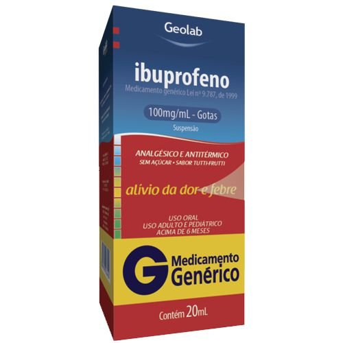 Ibuprofeno 100mg 20ml  (GEOLAB)