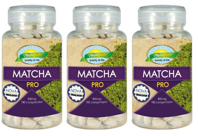 Kit 3 Unid Matcha Green Tea 540 Comprimidos 800mg Nutrigold