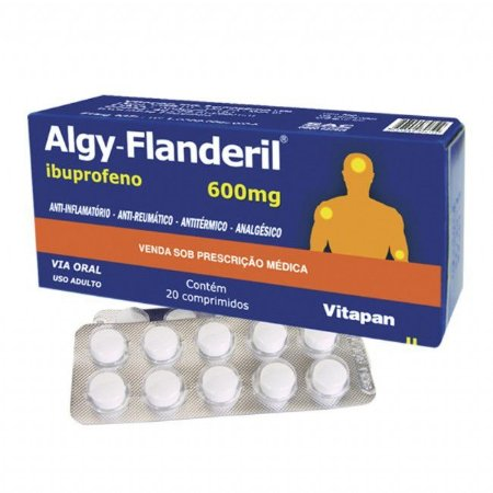 IBUPROFENO - ALGY-FLANDERIL 600MG 20 CPR