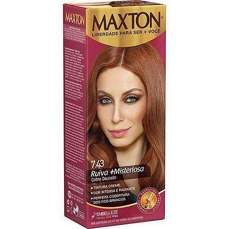 Tintura Maxton Kit 7.43 Cobre Dourado