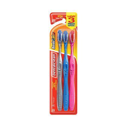 Escova Dental Dental Clean Basic Color Media 35 c/3un