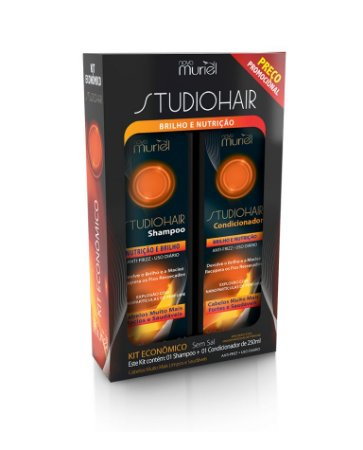 Kit Muriel Studio Hair Sh e Cond Nutrição e Brilho 250ml