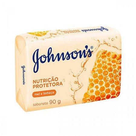 Sabonete J&J 90g Nutrição Protetora Mel e Linhaça