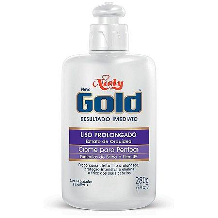 Creme  Pentear Niely Gold LISO PROLONGADO 280g