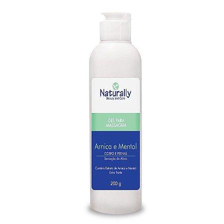 Gel para Massagem Arnica/Mentol Corpo/Pernas Naturally 200gr