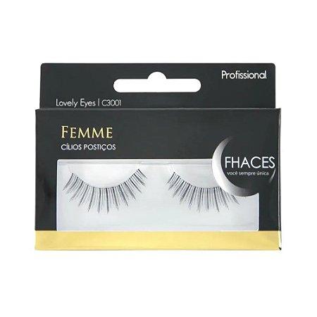 Cilios Postiços Femme Fhaces Profissional Lovely Eyes C3001