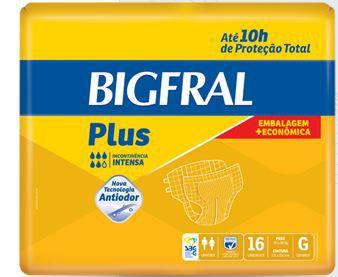 Fralda Bigfral Plus G c/16 Embalagem Economica