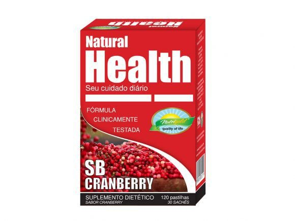 SB CRANBERRY – NATURAL HEALTH – 30 MONODOSES DE 4 PASTILHAS 1000MG