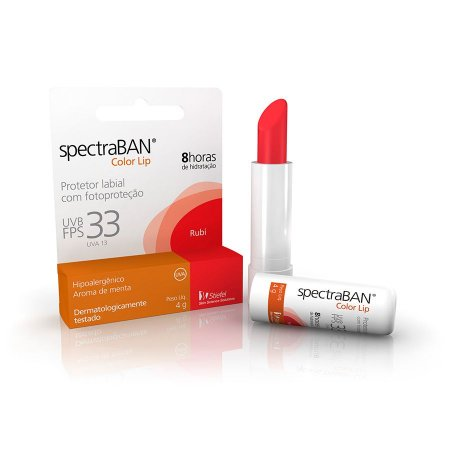 PROTETOR LABIAL SPECTRABAN COLOR LIP RUBI 4G FPS33