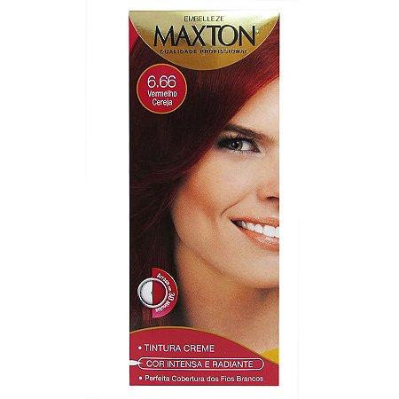 Tintura Maxton Kit 6.66 Vermelho Cereja (Especial)