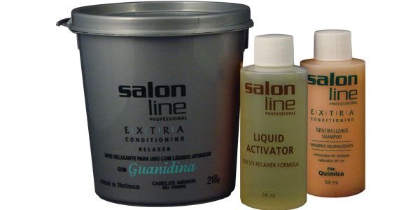 Alisante Salon Line Guanidina Pote CINZA Extra Médio