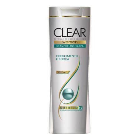 Shampoo Clear Anti Caspa 200ml Crescimento e  Força