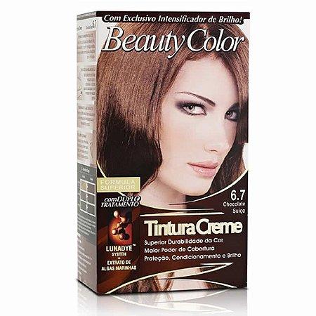 Tintura Beauty Color Sem Amônia 6.7 Chocolate Suiço