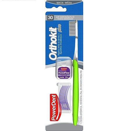 Kit Ortodontico PowerDent Escova+Fio+Passafio